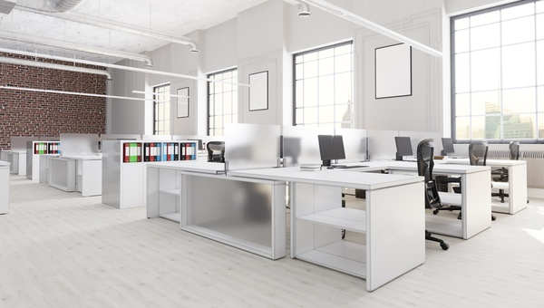 White Office E Meeting Room Table Stock Photo 16