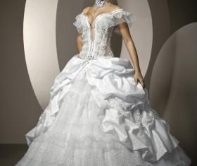 White wedding dress bride Stock Photo