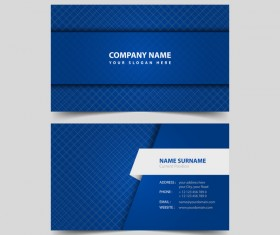 White with blue business card remplate vector