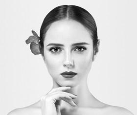 Woman Black and White Portrait Stock Photo 05
