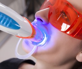 Woman doing dental care Stock Photo 01
