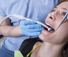 Woman doing dental care Stock Photo 05