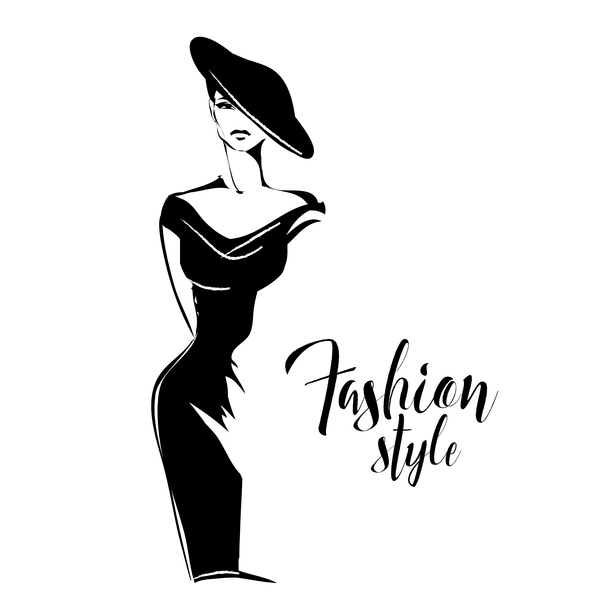 Woman fashion styles illustration vector material 03