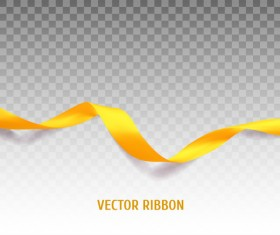 Yellow ribbon colored illustration vector