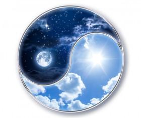 Yin and yang diagram Stock Photo