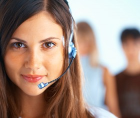 Young customer service girl Stock Photo