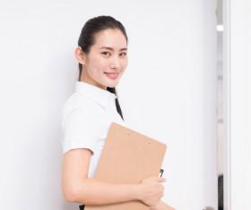 Young workplace women Stock Photo