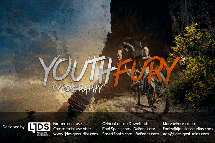 Youth fury free font