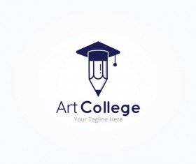 art college logos vector