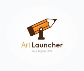 art launcher vector logo