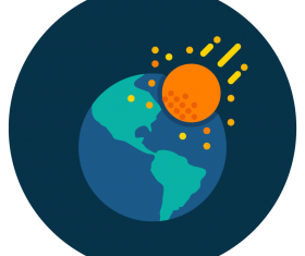 asteroid earth icon vector