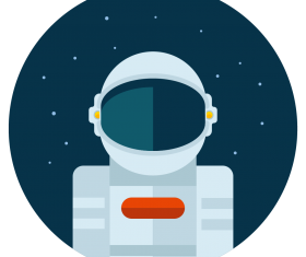 astronaut icon vector