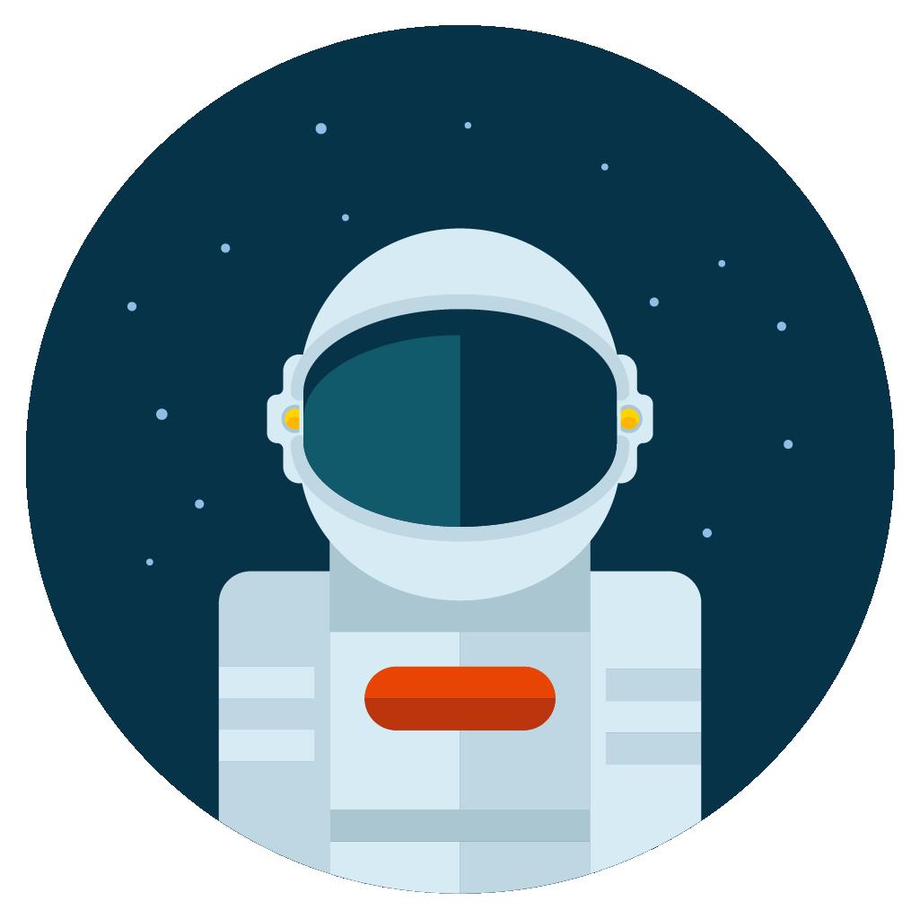 astronaut icon vector