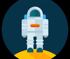 astronaut moon icon vector