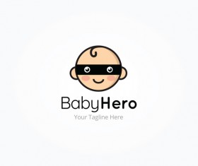 baby hero logo vector