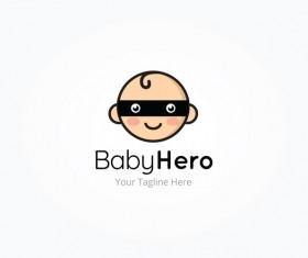 baby hero logo vector