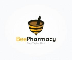 bee pharmacy logo vector
