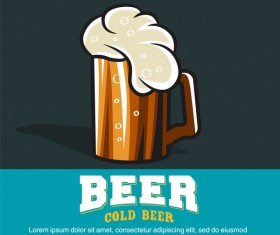 craft beer labels with white background vector