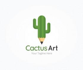 cactus art vector logo