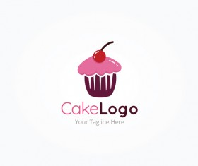 cake logo vector design