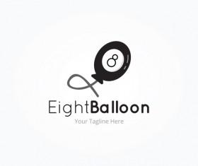 eight balloon logo vector