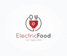 electric food logo vector