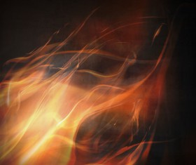 flame with black background vector