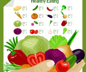 healthy eating vagetable vector