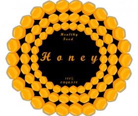 healthy food honey circles background vector 01