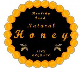 healthy food honey circles background vector 02