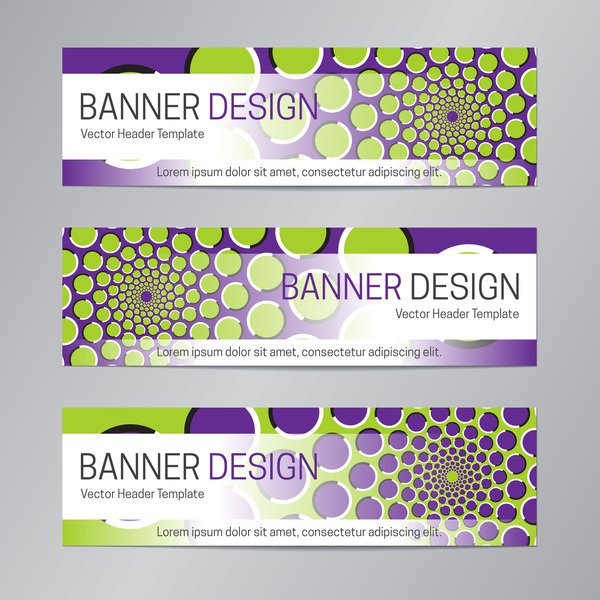 illusion banner vector header template vector 02