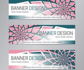 illusion banner vector header template vector 03
