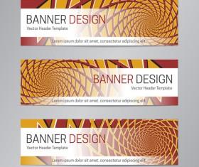 illusion banner vector header template vector 04