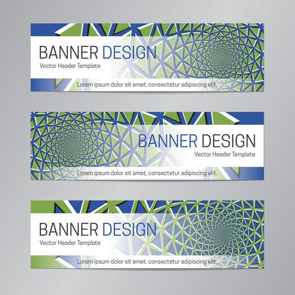 illusion banner vector header template vector 05