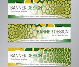 illusion banner vector header template vector 06