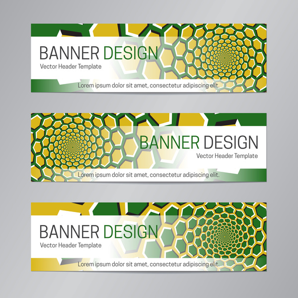 illusion banner vector header template vector 06 free download