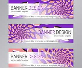 illusion banner vector header template vector 08