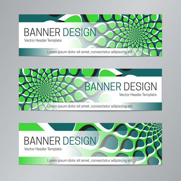 illusion banner vector header template vector 10