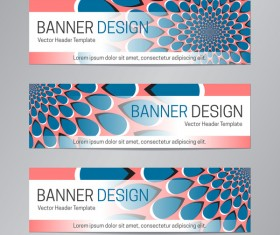 illusion banner vector header template vector 11