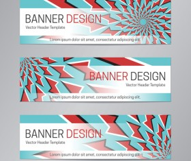 illusion banner vector header template vector 12