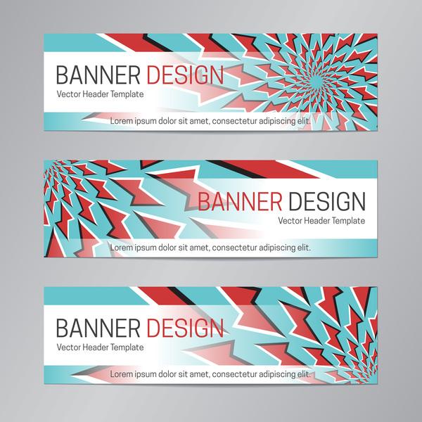 illusion banner vector header template vector 12