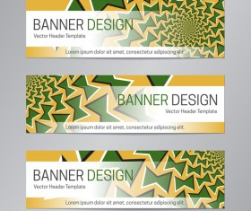 illusion banner vector header template vector 13