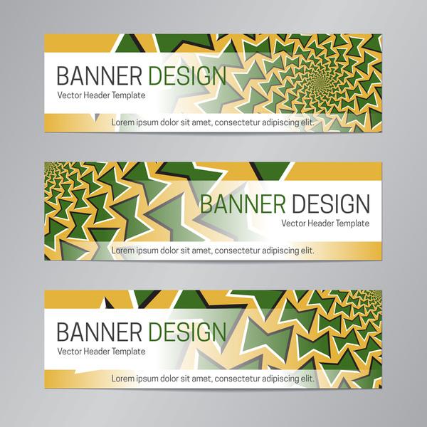 illusion banner vector header template vector 13