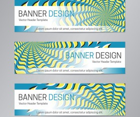 illusion banner vector header template vector 14