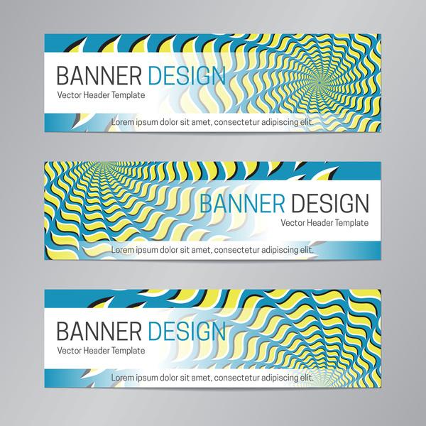 illusion banner vector header template vector 14
