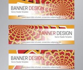 illusion banner vector header template vector 15