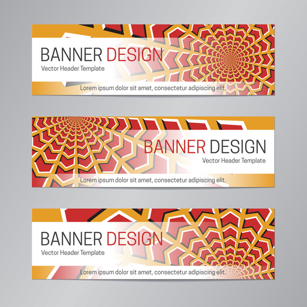 illusion banner vector header template vector 15