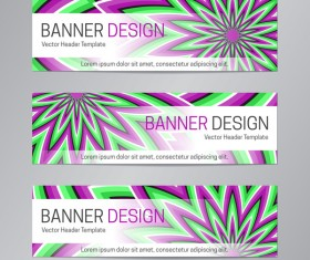 illusion banner vector header template vector 16