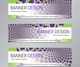 illusion banner vector header template vector 17