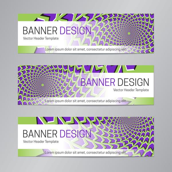 illusion banner vector header template vector 17